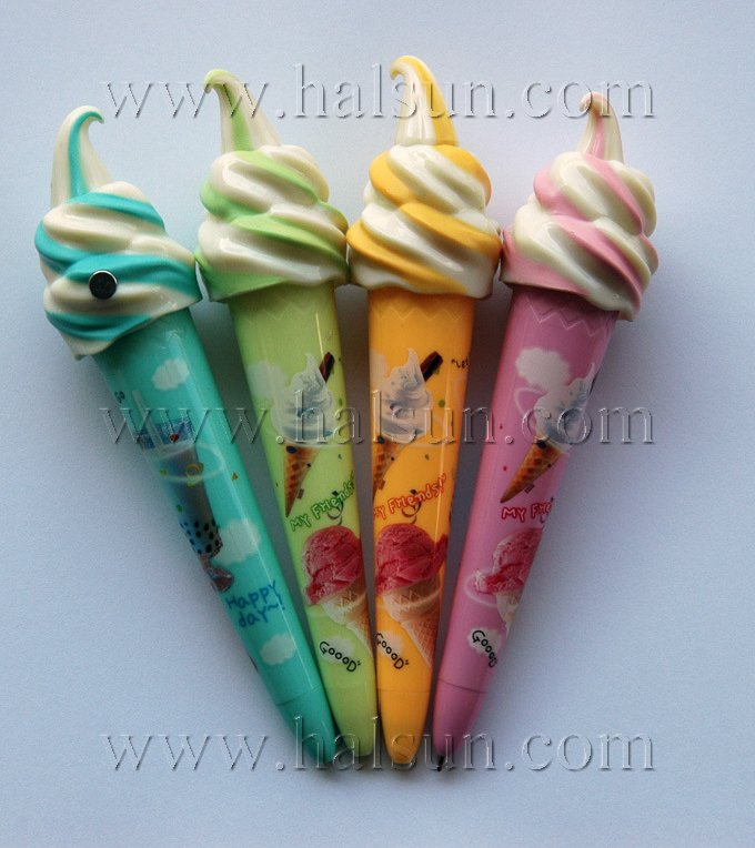 custom logo ice cream cone pens