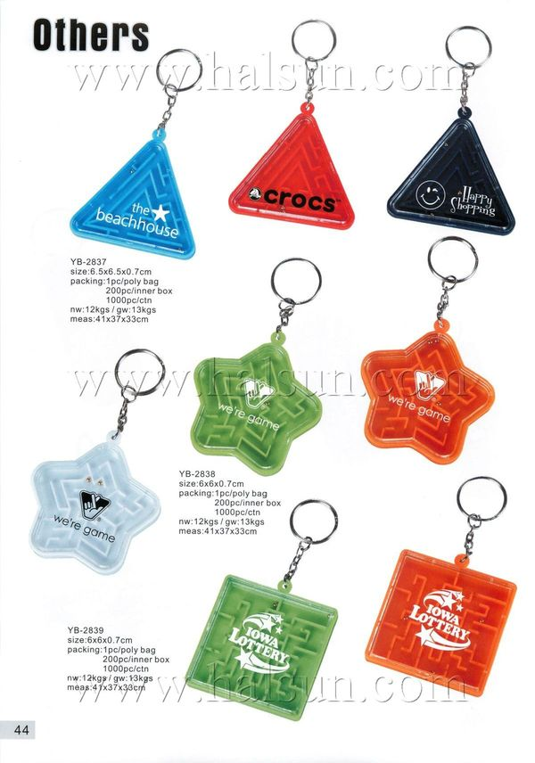 maze puzzle game with keyrings, custom logo imprinted maze puzzle
