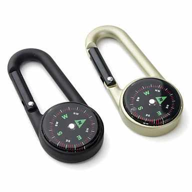 Aluminium Alloy Button Shape Compass and Carabineer for Mountaineering