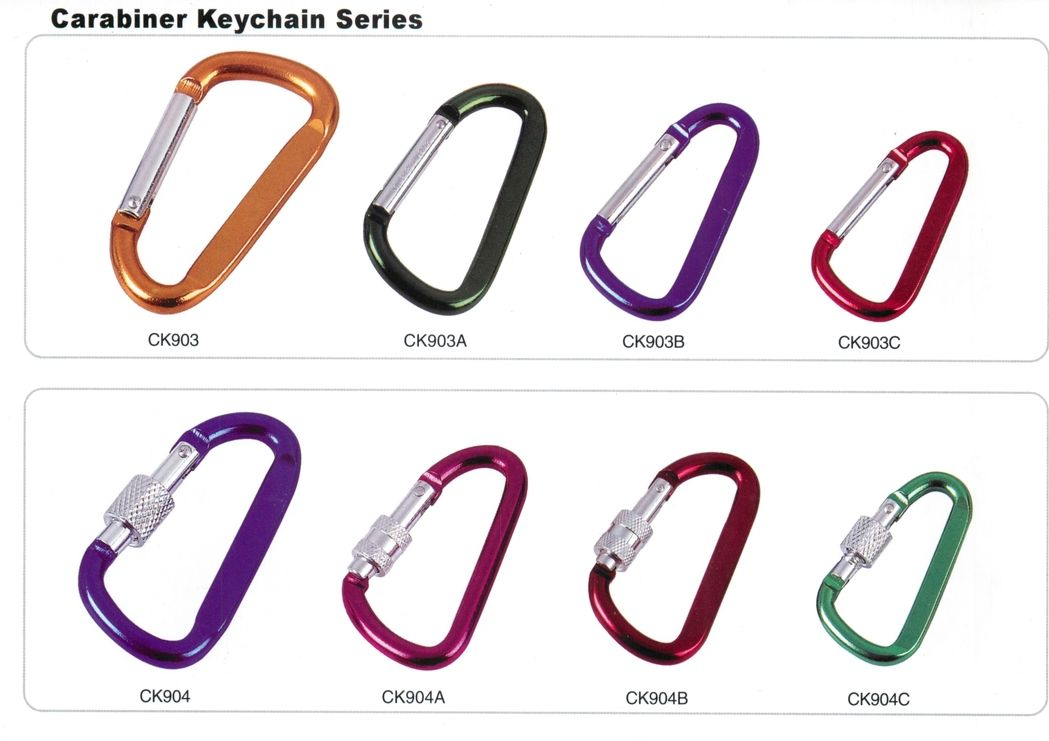 D shape anodized aluminum carabiners,custom carabiners with logo imprint