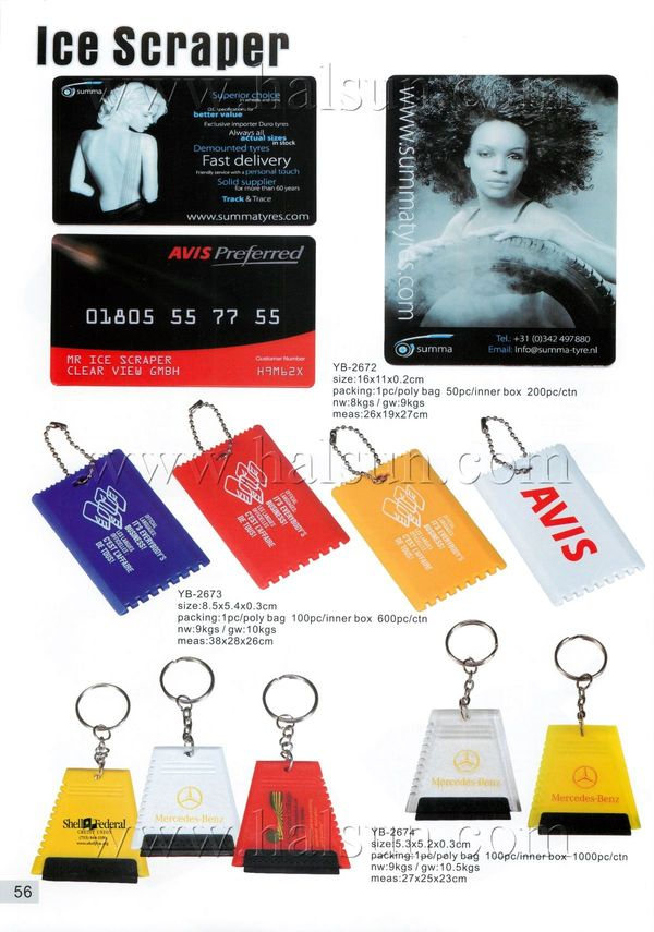 promotional credit card ice scrapers
