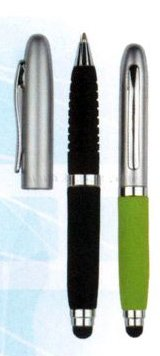 mini metal stylus pens with EVA soft barrel and grip