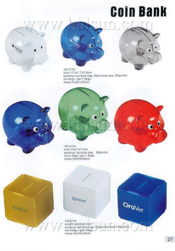 Promotional Plastic Piggy Coin Bank, Customized Plastic Piggy Coin Bank,