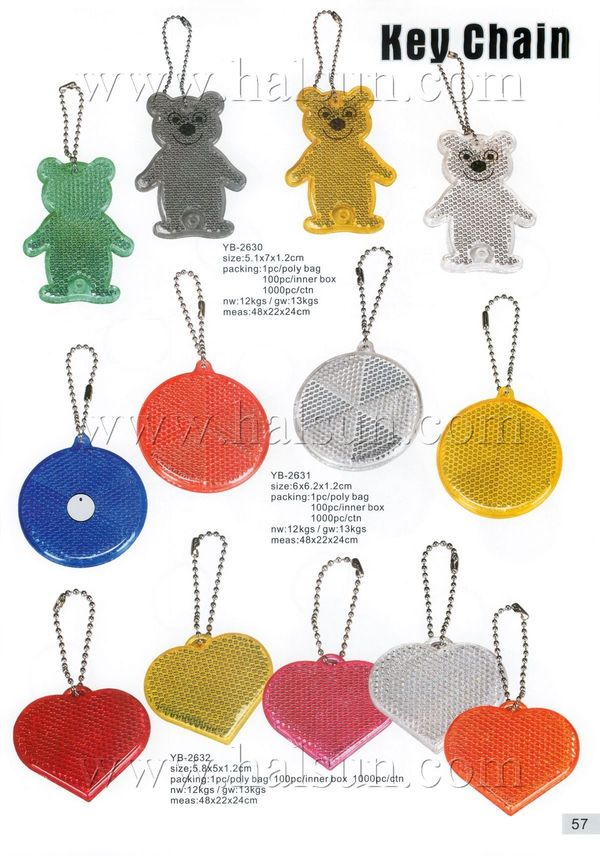 promotional reflective key rings