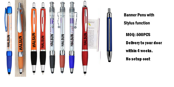 more Gel ink banner stylus pens